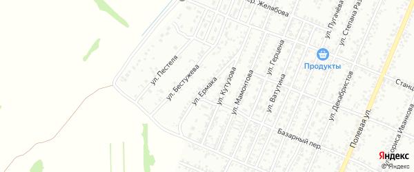 Улица Ермака на карте Рубцовска с номерами домов
