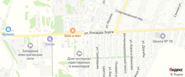 Западная улица на карте садового некоммерческого товарищества N 3 с номерами домов