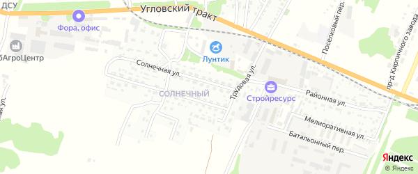 Солнечная улица на карте садового некоммерческого товарищества N 8 с номерами домов