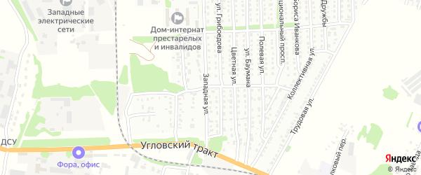 Переулок Свободы на карте Рубцовска с номерами домов