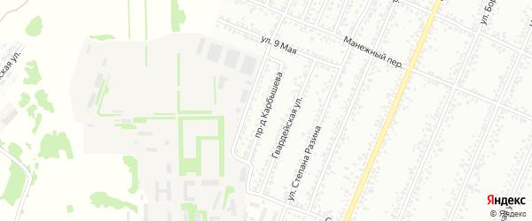 Проезд Карбышева на карте Рубцовска с номерами домов