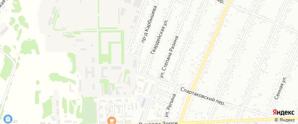 Гвардейская улица на карте Рубцовска с номерами домов