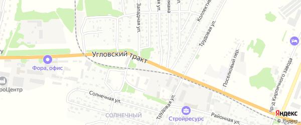 Угловский тракт на карте Рубцовска с номерами домов