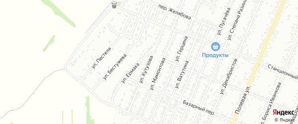 Улица Кутузова на карте Рубцовска с номерами домов