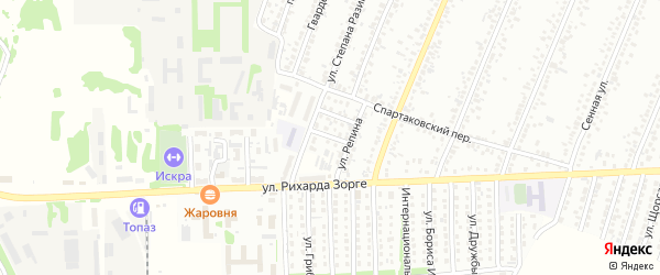 Клубный проезд на карте Рубцовска с номерами домов