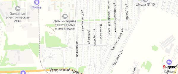 Цветная улица на карте Рубцовска с номерами домов