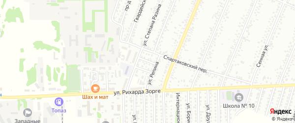 Кирпичный переулок на карте Рубцовска с номерами домов