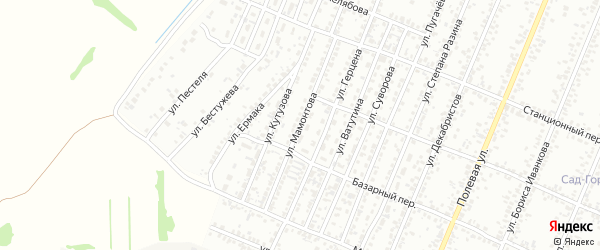 Улица Мамонтова на карте Рубцовска с номерами домов