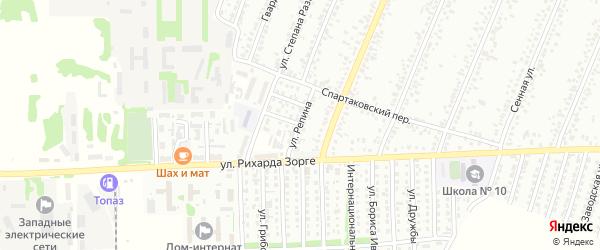 Улица Репина на карте Рубцовска с номерами домов