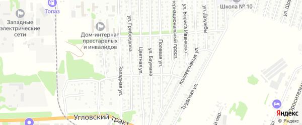 Улица Баумана на карте Рубцовска с номерами домов