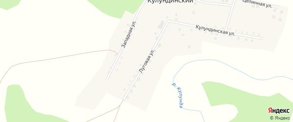 Луговая улица на карте Кулундинского поселка с номерами домов