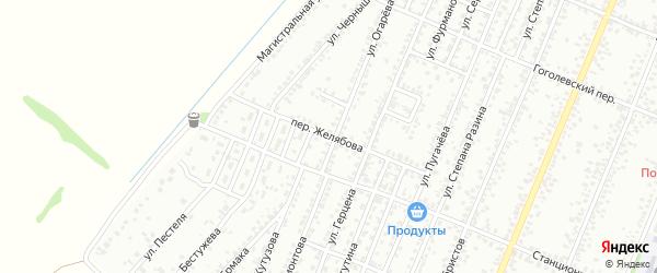 Переулок Желябова на карте Рубцовска с номерами домов