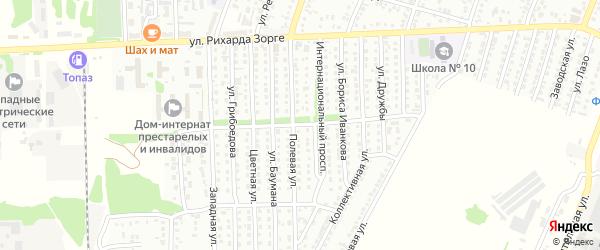 Социалистический проспект на карте Рубцовска с номерами домов