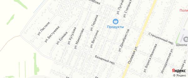 Улица Ватутина на карте Рубцовска с номерами домов