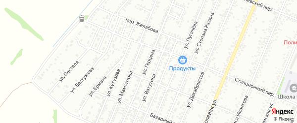Улица Герцена на карте Рубцовска с номерами домов
