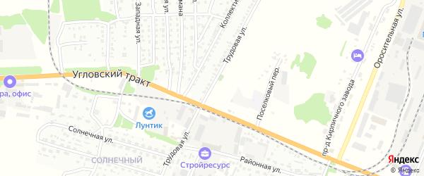 Трудовая улица на карте Рубцовска с номерами домов