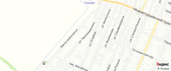 Улица Чернышевского на карте Рубцовска с номерами домов