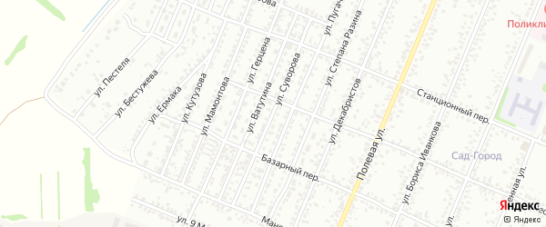 Улица Суворова на карте Рубцовска с номерами домов