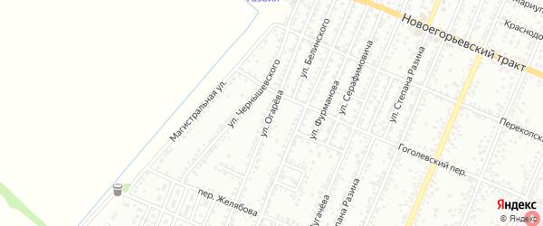 Улица Огарева на карте Рубцовска с номерами домов