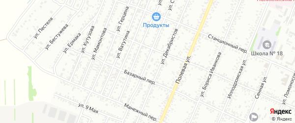 Улица Степана Разина на карте Рубцовска с номерами домов