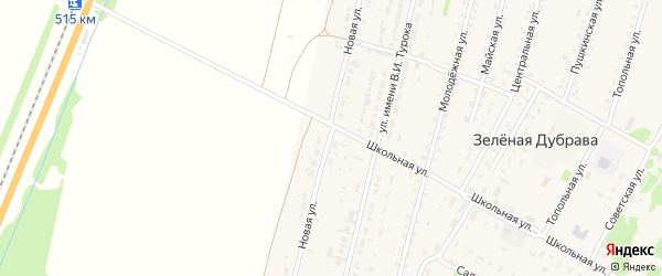 Новая улица на карте поселка Зеленой Дубравы с номерами домов
