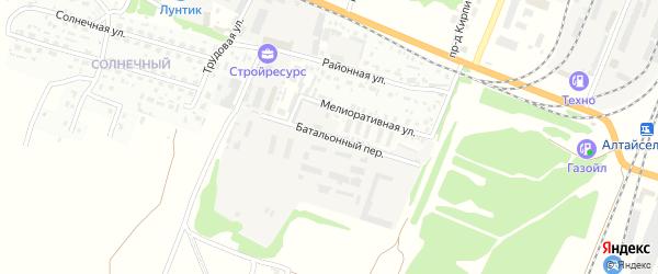Батальонный переулок на карте Рубцовска с номерами домов