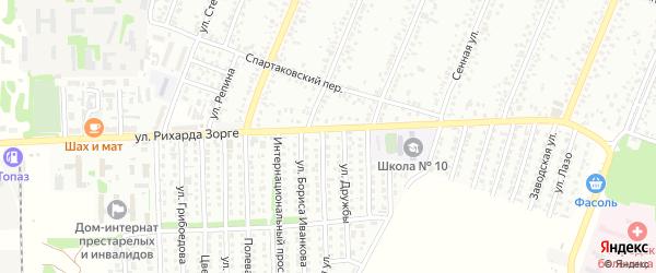 Коллективная улица на карте садового некоммерческого товарищества N 1 с номерами домов