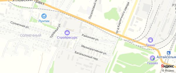 Районная улица на карте Рубцовска с номерами домов