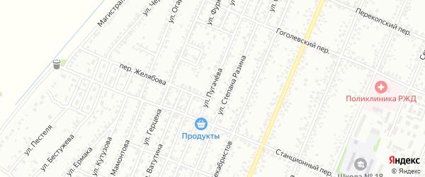 Улица Пугачева на карте Рубцовска с номерами домов