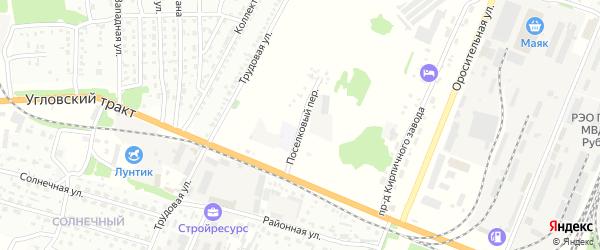 Поселковый переулок на карте Рубцовска с номерами домов