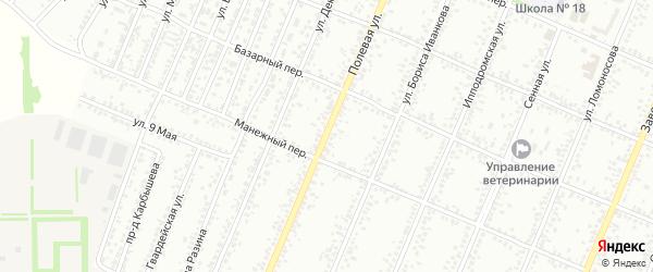 Полевая улица на карте Рубцовска с номерами домов