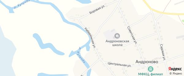 Набережная улица на карте села Андроново с номерами домов