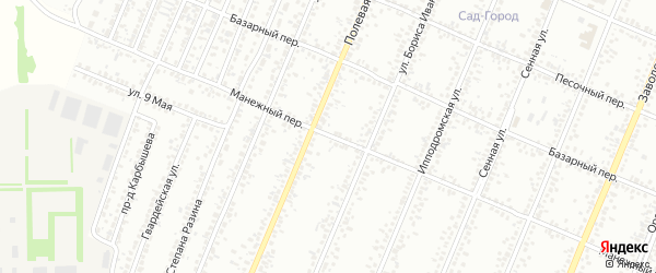 Манежный переулок на карте Рубцовска с номерами домов