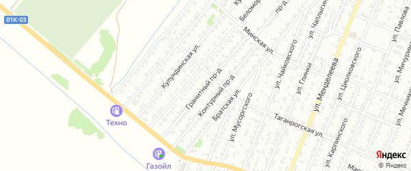 Гранитный проезд на карте Рубцовска с номерами домов
