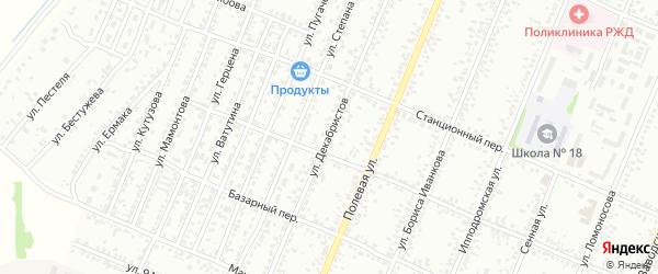 Улица Декабристов на карте Рубцовска с номерами домов