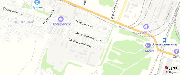 Мелиоративная улица на карте Рубцовска с номерами домов