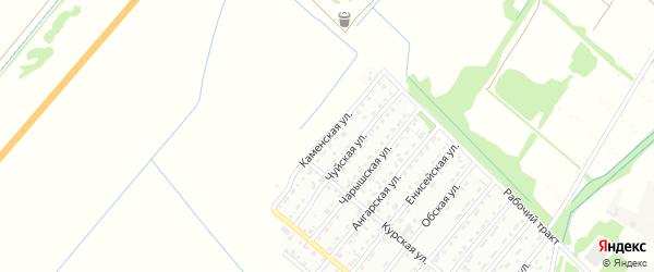 Каменская улица на карте Рубцовска с номерами домов
