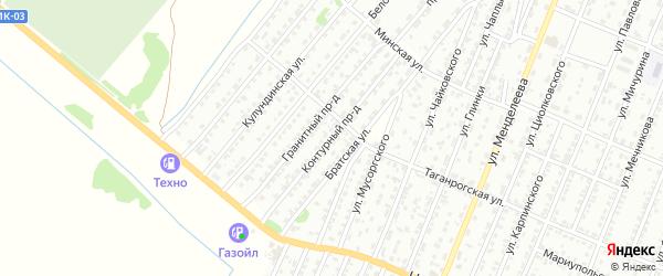 Контурный проезд на карте Рубцовска с номерами домов