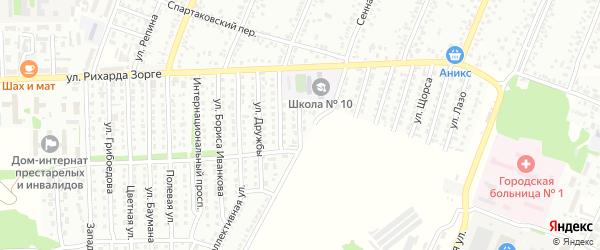 Карьерная улица на карте Рубцовска с номерами домов