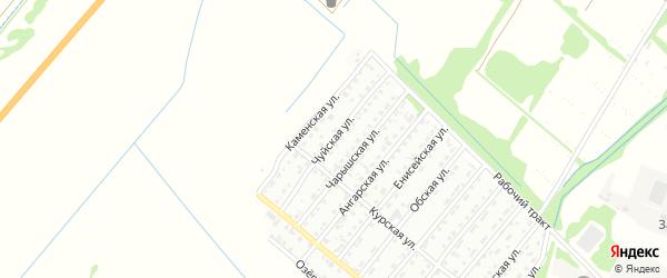 Чуйская улица на карте Рубцовска с номерами домов