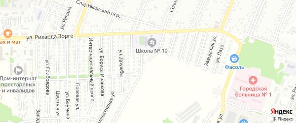 Луговая улица на карте Рубцовска с номерами домов