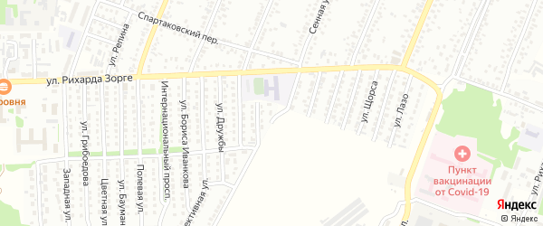 Луговая улица на карте садового некоммерческого товарищества N 7 с номерами домов