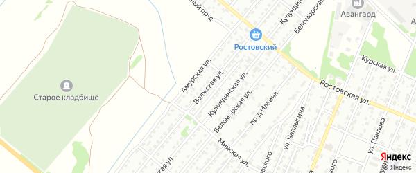 Волжская улица на карте Рубцовска с номерами домов