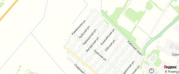 Чарышская улица на карте Рубцовска с номерами домов