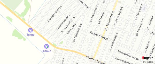 Улица Мусоргского на карте Рубцовска с номерами домов