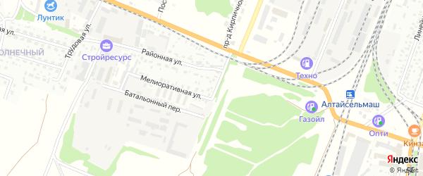 Районная улица на карте садового некоммерческого товарищества N 3 с номерами домов