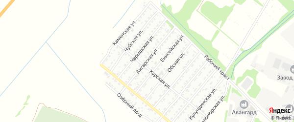 Ангарская улица на карте Рубцовска с номерами домов