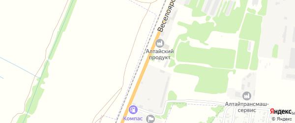 Веселоярский тракт на карте Рубцовска с номерами домов