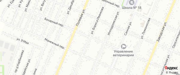 Улица Бориса Иванкова на карте Рубцовска с номерами домов