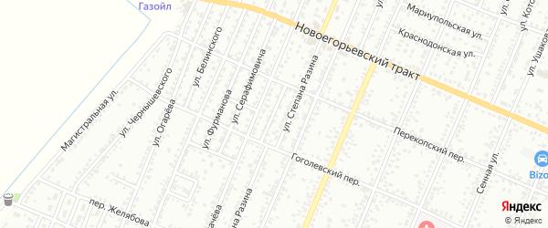 Проезд Денисова на карте Рубцовска с номерами домов